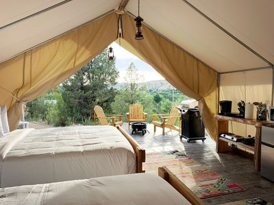 Photo for Glamping Tent #2 at East Zion Resort (Two Queen Beds)