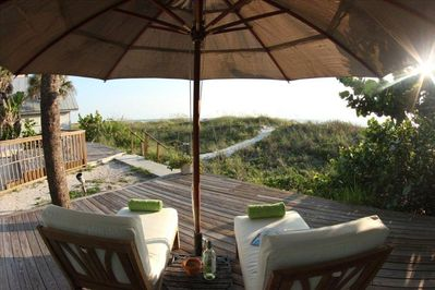 Privale deck overlooking the Gulf of Mexico