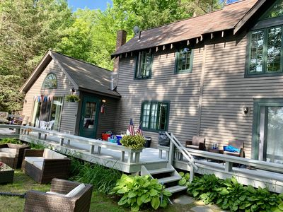 Photo for Lakefront Private Retreat Home with spectacular views & 2 lakeside cabins