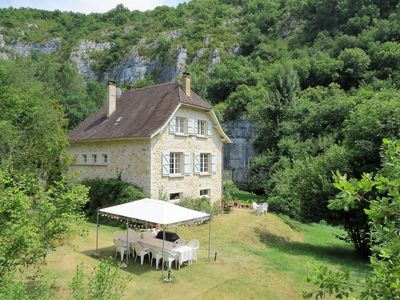 Photo for Stone built house in large grounds with 200m of river frontage on the River Célé