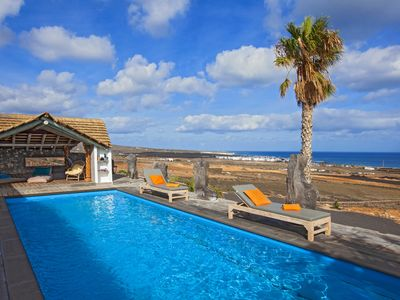 Photo for Family / Friends Villa Palacio, exceptional location, sea views, 2 private pools