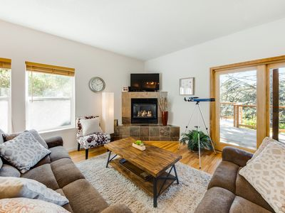 Photo for Walk to beach from beautiful home w/views of ocean & Yaquina Lighthouse!