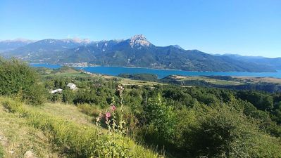 Photo for The Chalet Gaby, House with panoramic view on the lake of Serre Ponçon