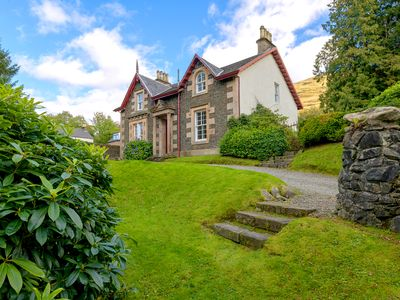 Photo for Victorian house, family & pet friendly, overlooking Loch Long, by Loch Lomond