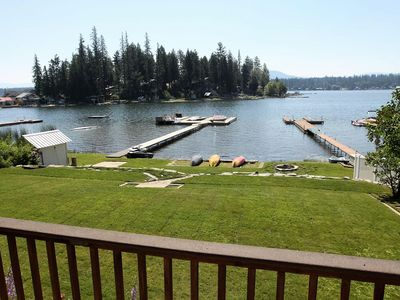 Photo for 60 Feet Of Sandy Waterfront With Large Lawn, Spacious Deck And Beautiful Views.