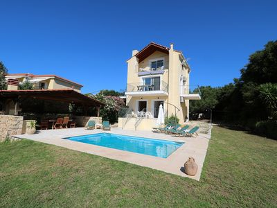 Photo for Private 3 bed Villa with Pool close to village with Sea and Mountain Views