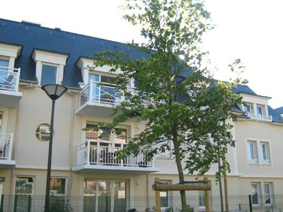 Photo for Modern, quiet second-floor 2 bedroom apartment with internet access in Cabourg