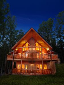 Photo for Luxury 4 Bedroom Gatlinburg Cabin with Private Home Theater Room