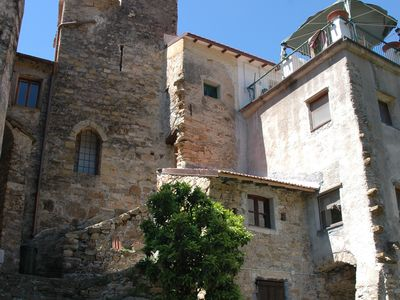 Photo for Mini-historic apartment in a medieval tower in Moltedo, IM