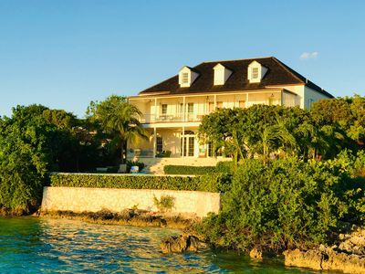Wind Whistle Harbour Villa- a classic Bahamian 2.5 story veranda-style  house.