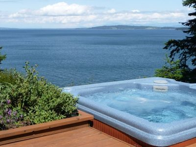 Photo for San Juan Islands:  Secluded Ocean Front Orcas Island Home with Spa