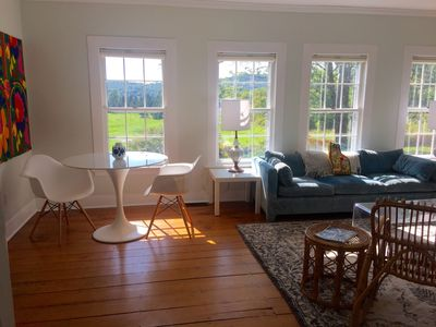 Living room with spectacular westerly views.