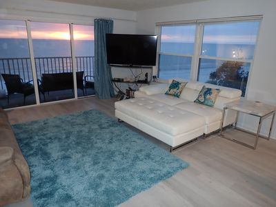 Photo for Beautiful  Beachfront  2bed/2bath corner unit with Jacuzzi and  electric FP!