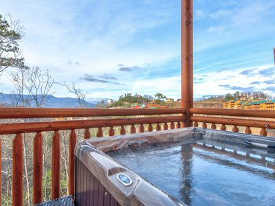 Photo for Summer is here!! The Mountains are calling! Amazing View 6 Bedroom Cabin with large in cabin pool