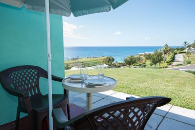 enjoy the southshore views from the patio