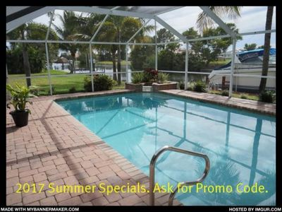 Photo for Casa Chloe - Cape Coral 3b/2ba home w/electric heated pool, gulf access canal, HSW Internet, Boat Do
