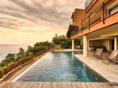 Photo for Exceptionnal Villa - infinity pool, sea views, next to Pierre Cardin palace