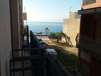 Photo for COZY APARTMENT WITH BALCONY WITH SEA VIEWS, 50M FROM THE BEACH + WIFI