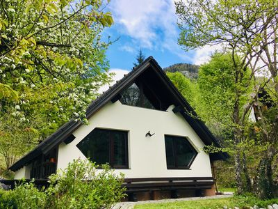 Photo for Chalet in a magnificent mountain landscape in the middle of Triglav National Park