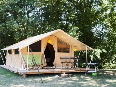 Photo for Huttopia Camping Côte Sauvage ** - Tent Classic 3 Rooms 4 Persons