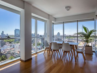 Photo for Apartment in Five Star Building With Panoramic Views  GYM  POOL SAUNA