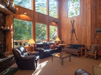 Photo for Eagle Falls Lodge-Hot tub- Massive Stone Fireplace, walk to the ZigZag River