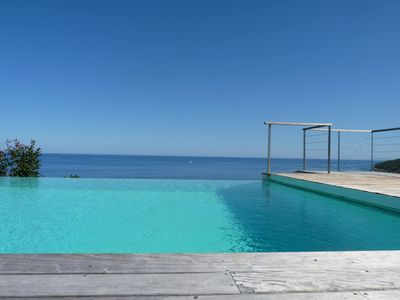 Photo for Brand new Villa in front of the sea, swimmingpool