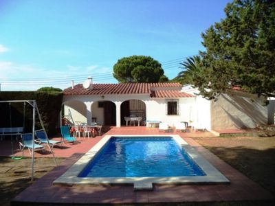 Photo for House with private pool and big garden for 6 poeple approx 500 m from the beach