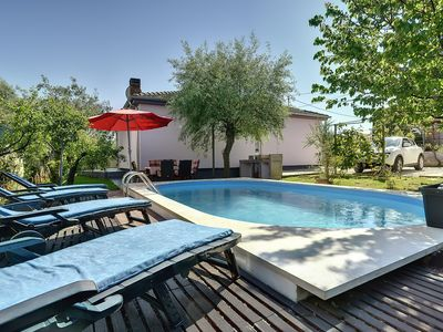 Photo for Beautiful villa with private pool and a cozy and green garden, here you can relax - the beach is only 600 meters