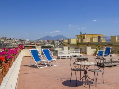 Photo for The Terra room in Mergellina in an elegant apartment with sea view
