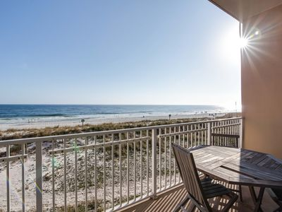 Photo for Gulf-front condo w/ spectacular views & shared pool/hot tub/sauna - on the beach