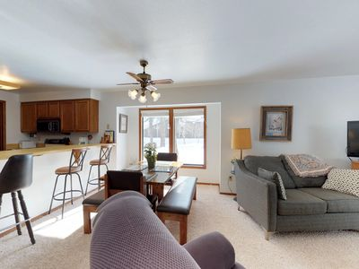 Photo for Cozy condo by the lake w/ a shared pool - near skiing & downtown McCall