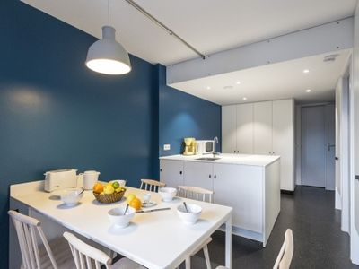 Photo for Renovates apartment into a calm residence close to slopes and facilities