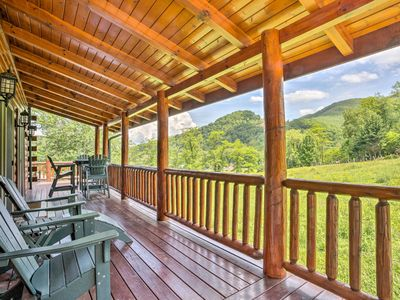 Photo for Maggie Valley Cabin w/Private Hot Tub & Game Room!