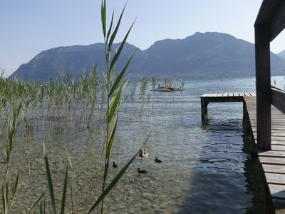 Photo for Standing villa with private access to Lake Annecy and pontoon