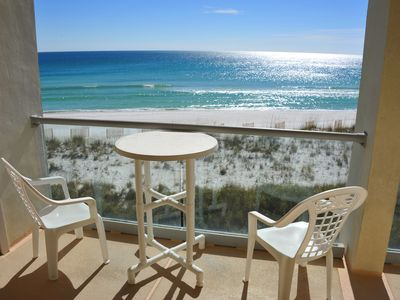 Photo for Regency Towers unit 405W - 2 bedroom/2 bath. Gulf-front! Free WiFi. Pool