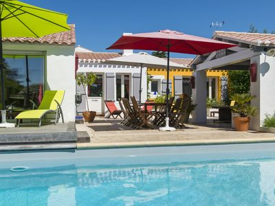 Photo for VERY NICE VILLA 12 PEOPLE SWIMMING POOL HEATED BLACK ISLANDMOUTIER LE VIEIL