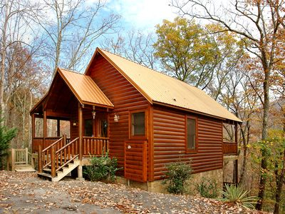 Photo for ROMANTIC LUXURY CABIN AT THE ENTRANCE OF GSMNP! MOUNTAIN VIEW!!