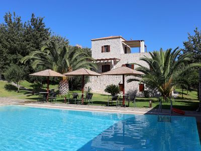 Photo for Calm located holiday house with pool, wifi, max. 8 Pers., Lakonia, Peloponnese