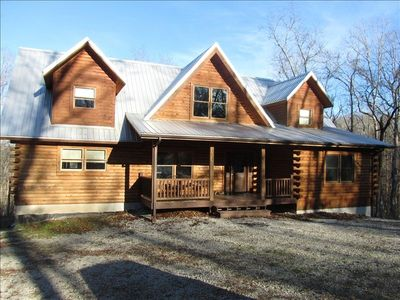 Photo for Spectacular Log Home...12 Acres on Private Cove, Lakefront