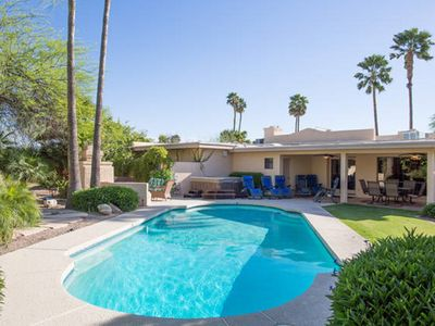 Photo for JACUZZI & PRIVATE HEATED POOL- Entertainers Paradise In The Heart Of Scottsdale