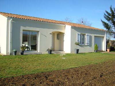 Photo for House recently built,peaceful rural hamlet, splash pool, 40 minutes from beaches