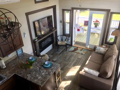 Photo for SPACIOUS TINY HOUSE - SCREENED PORCH,F/P,WIFI,POOL,GATED COMM, NEAR ASHEVILLE