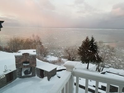 January View from the 3rd floor master bedroom