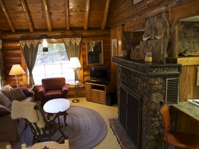 Sunny LOG HOME on CREEK!  FIREPLACE!  Perfect mix of Comfort and Mountain Living