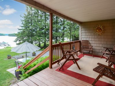 Photo for Family-friendly, lakefront home w/ dock, deck, & views - dogs welcome, too!