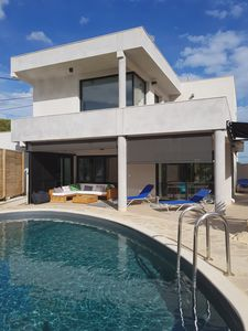 Photo for Contemporary Villa with Pool and Stunning Sea Views. :)