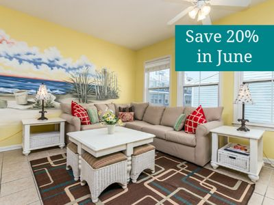 Photo for Updated 5-BR Townhome - Pond/Fountain Views, Free Wi-Fi, Pools, Clubhouse, Private Beach!