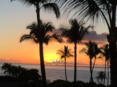 Amazing sunset views from your private lanai.