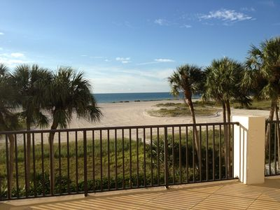 View of beach from large private patio!